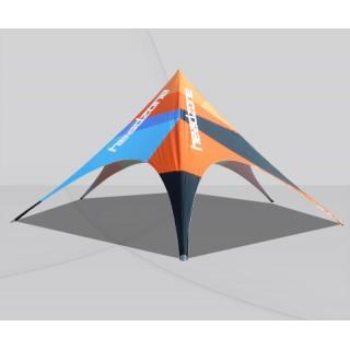 Tente étoile avec toit 100% imprimé