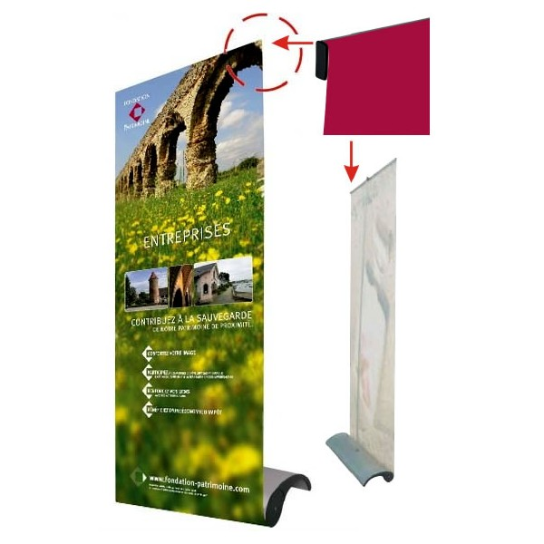 Stand enrouleur roll up drop for Stand enrouleur